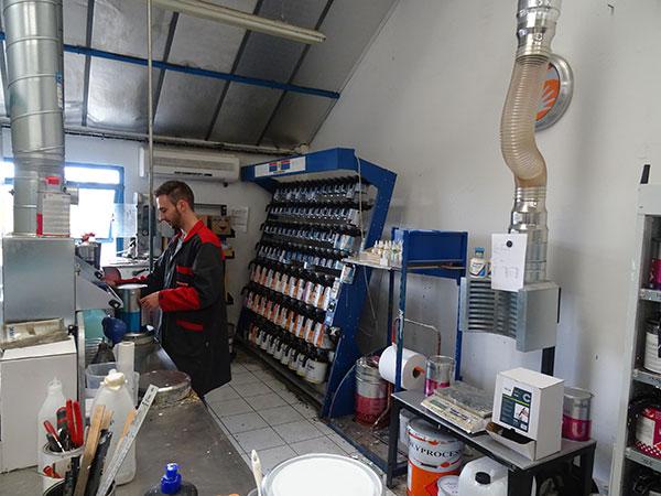 Ateliers de fabrication de peinture industrielle